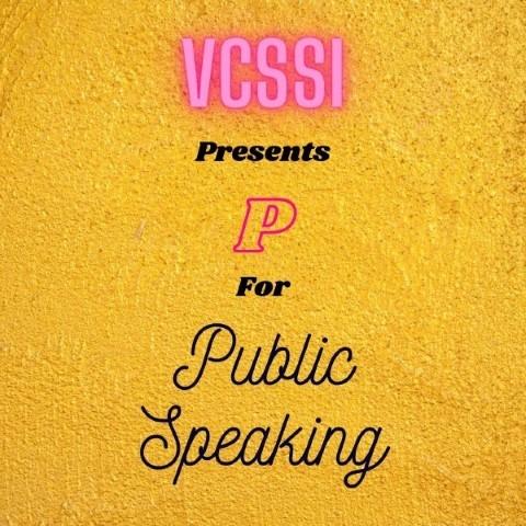 P For Public Speaking