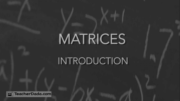 Matrices CBSE maths for Class 12